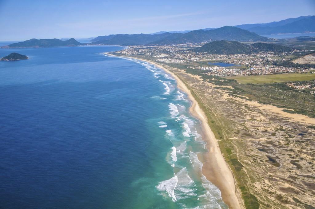Vista aérea da cidade de Florianópolis, em Santa Catarina (Foto: Eduardo Valente/Getty Images)