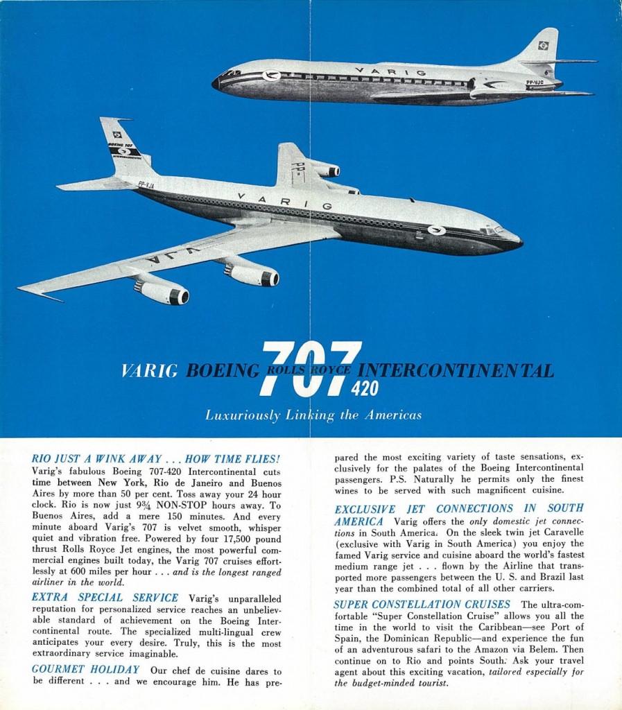 Propaganda da Varig veiculada nos EUA nos anos 1960