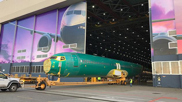 Fuselagem do 737 MAX 9 ficou pronta em dezembro (Foto: Divulgação)