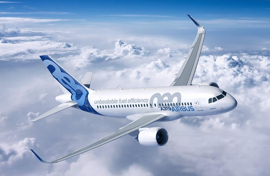 Perspectiva de como será o novo A319neo (Imagem: Divulgação)