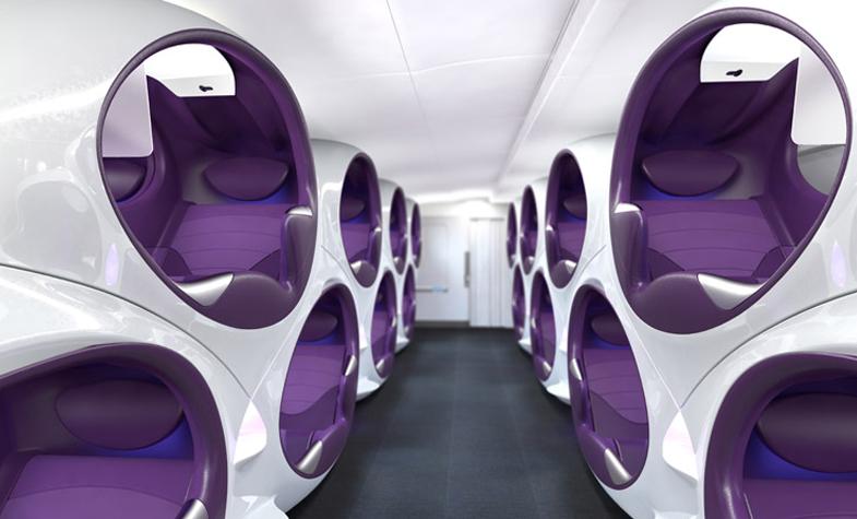 Poltronas em forma de casulo, chamada Air Lair. Foto: Divulgação/Factory Design
