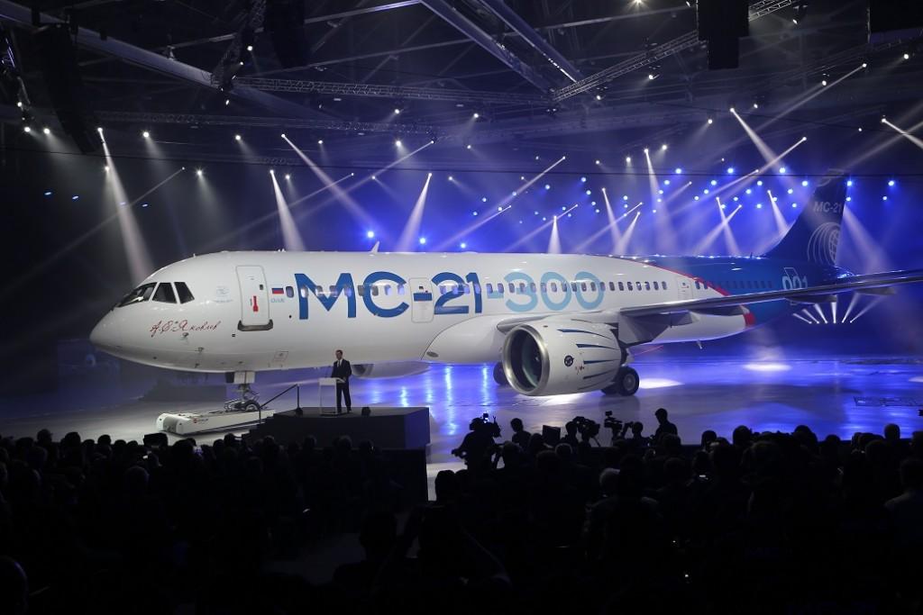 Apresentação oficial do Irkut MC-21 aconteceu em julho (Foto: Divulgação)
