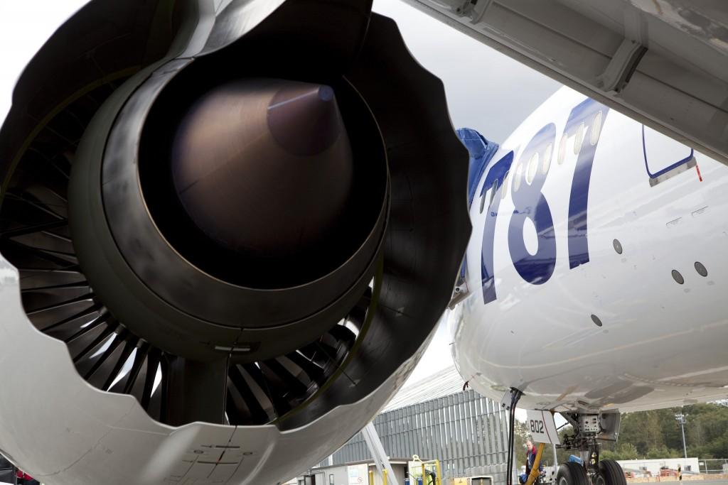 Saída de ar de um motor de avião do tipo turbofan (Foto: Divulgação/Rolls-Royce)