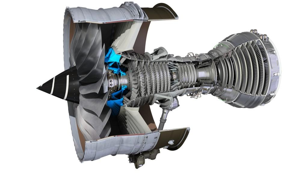 Ilustração mostra como é um motor de avião por dentro (Imagem: Divulgação/Rolls-Royce)