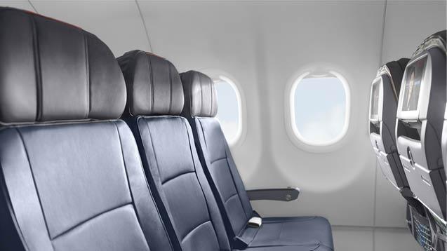 Classe econômica da American Airlines. Foto: Divulgação