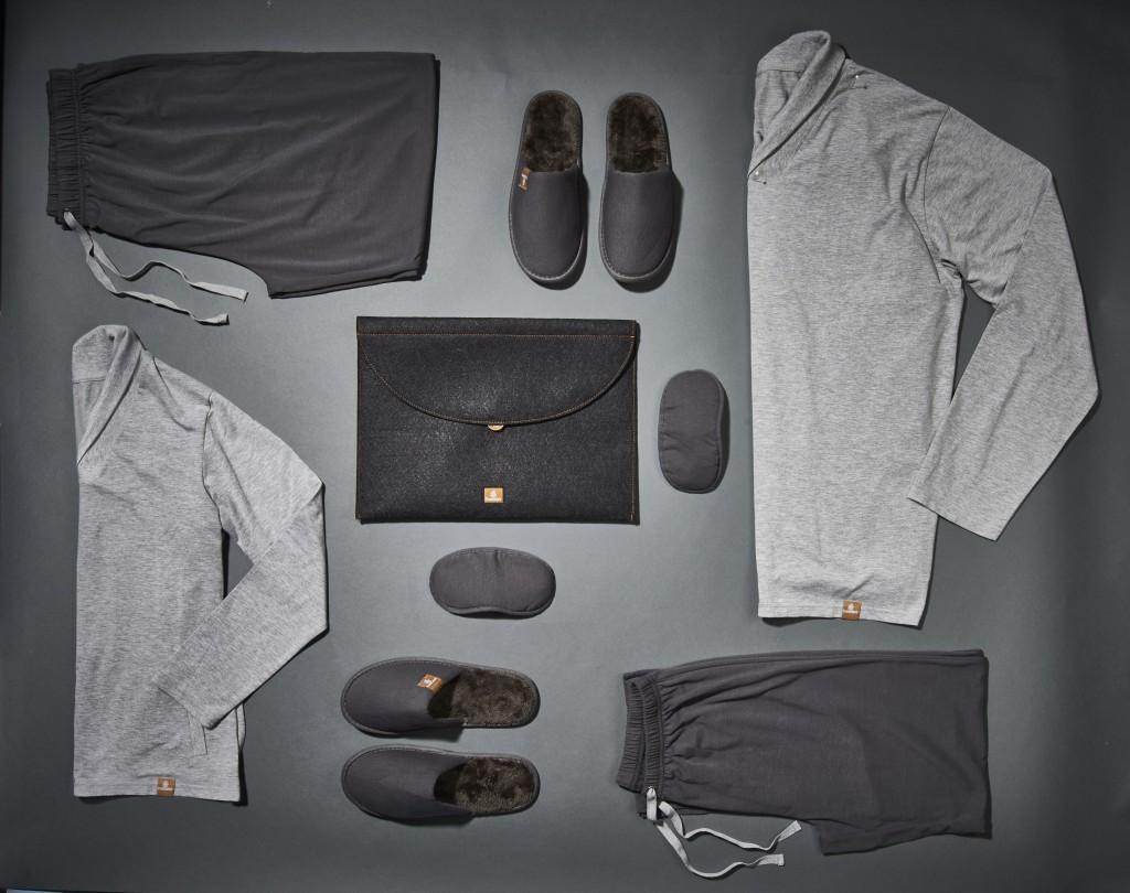 Pijama com efeito hidratante para clientes vip. Foto: Divulgação/Emirates