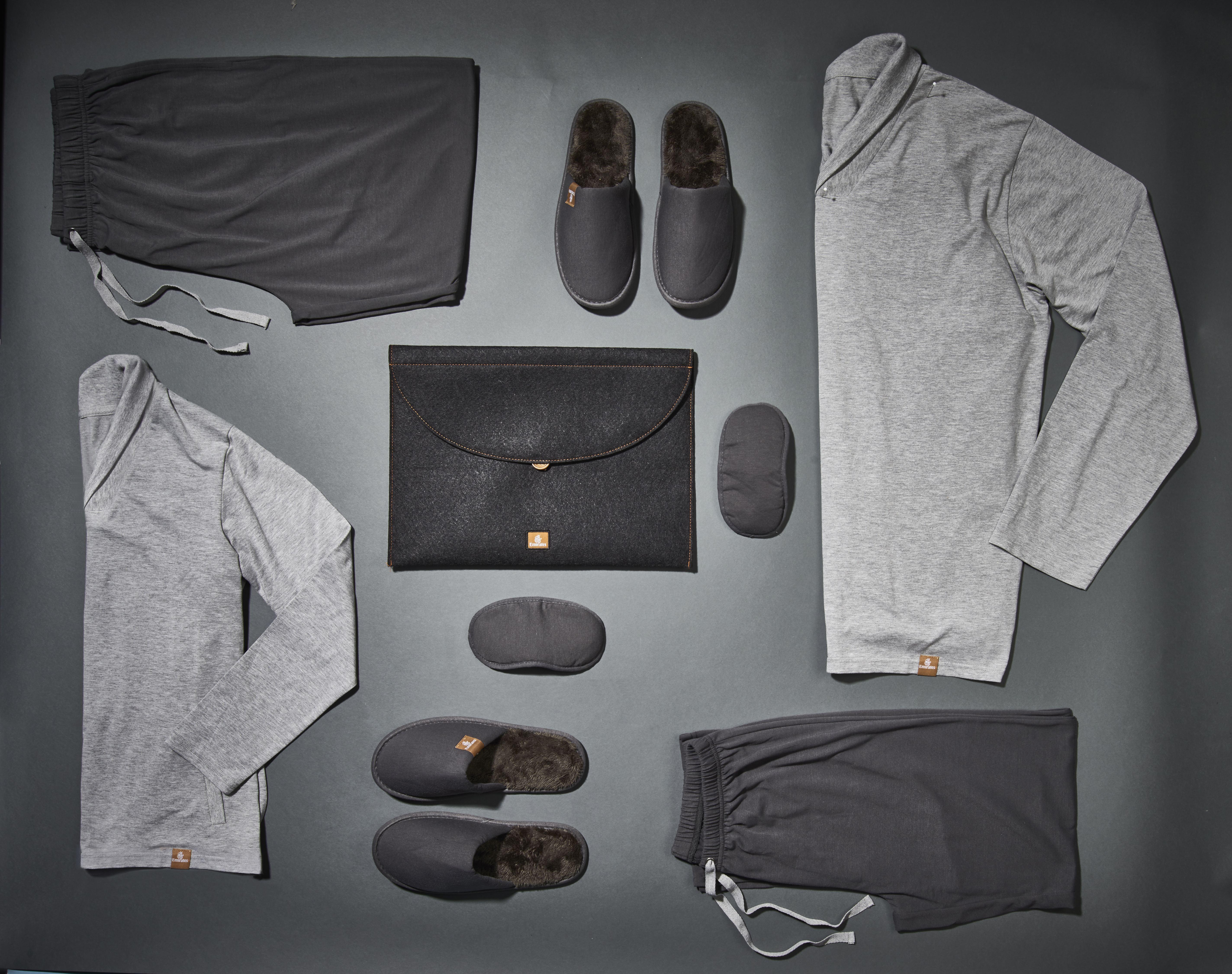 b273f3c9a61 Pijama com efeito hidratante para clientes vip. Foto  Divulgação Emirates