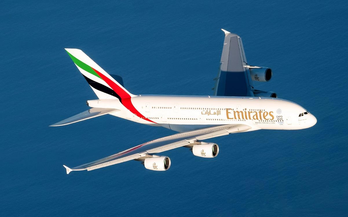 c91d7bb9e0 Voos diários da Emirates com o Airbus A380 começam neste domingo (Foto   Divulgação)