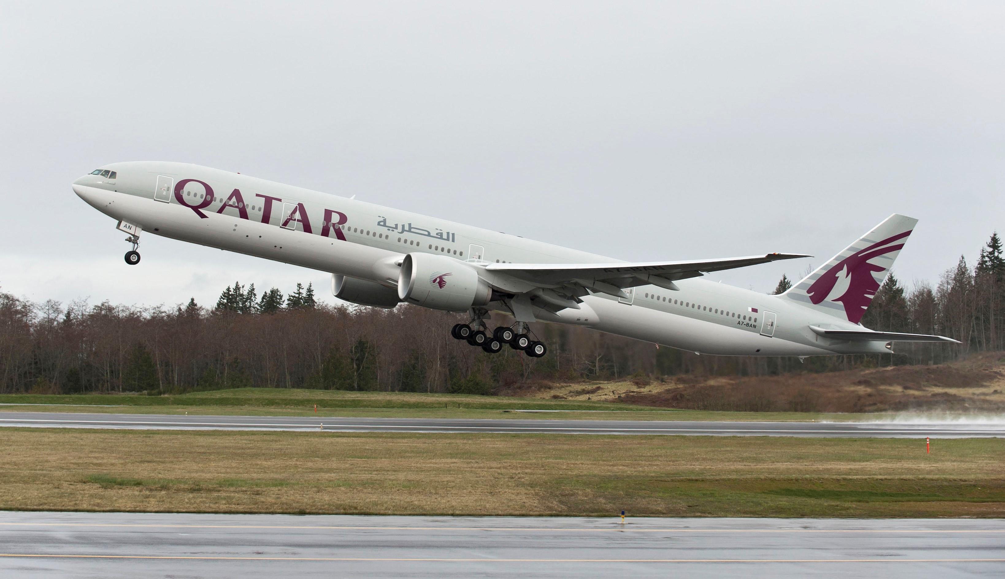 fd2078232d Qatar utiliza o Boeing 777-200LR na rota mais longa do mundo (Foto   Divulgação)