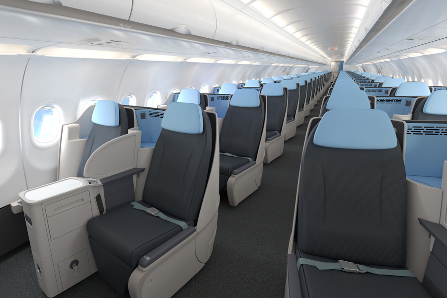 - A321neo Le compagnie - Aérea só tem poltrona executiva, serve champanhe e cobra metade do preço