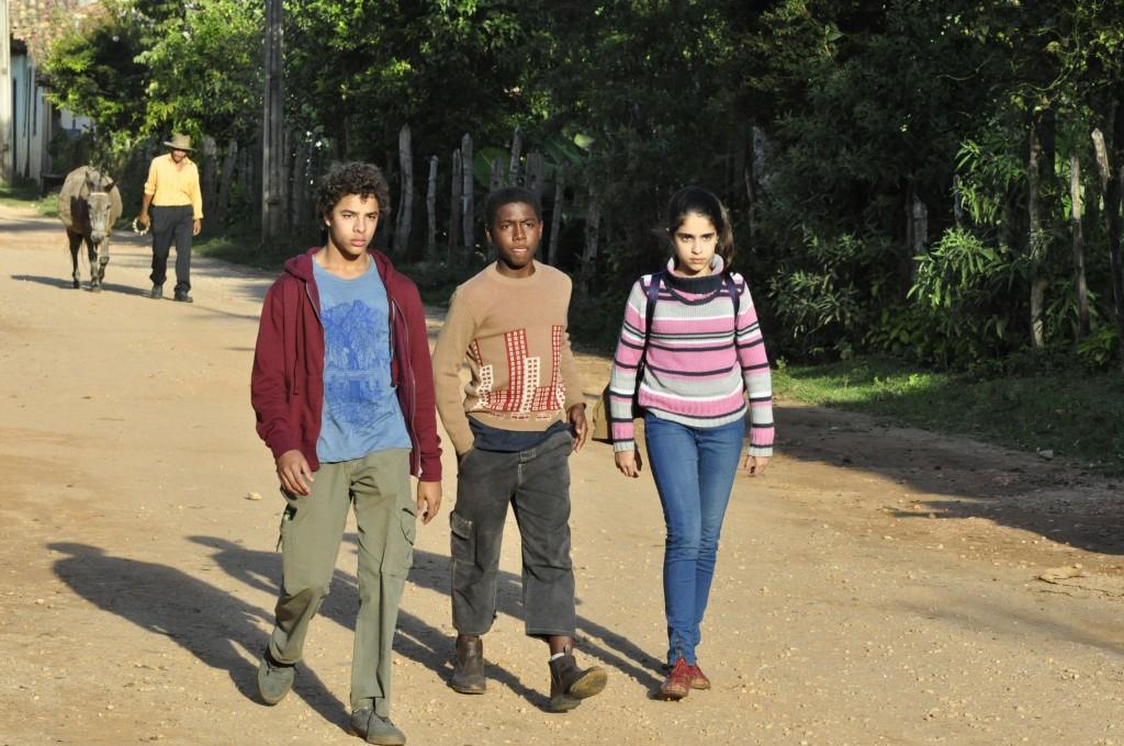 (A partir da esq.) Matheus Abreu, Alberto Gouvea e Rachel Pimentel