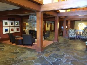 """O saguão do hotel onde foi filmado grande parte de """"Twin Peaks""""."""