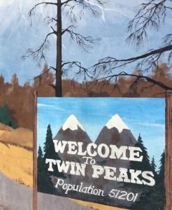 A placa não existe para valer – ela é uma pintura em um muro lateral do Cherry Cafe.