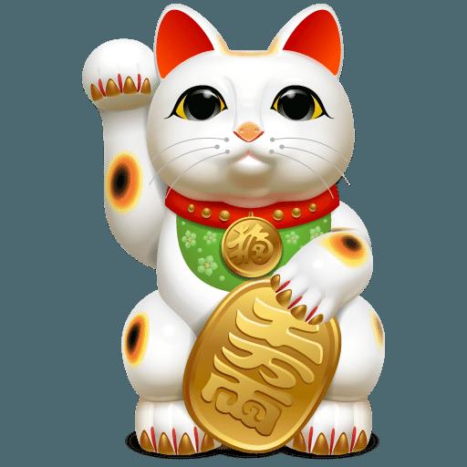 Maneki Neko é um amuleto da sorte japonês