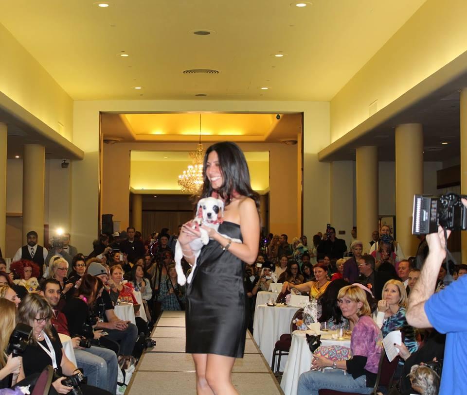 A designer de joias para pets Chen Sahar foi de Israel até os EUA para o evento