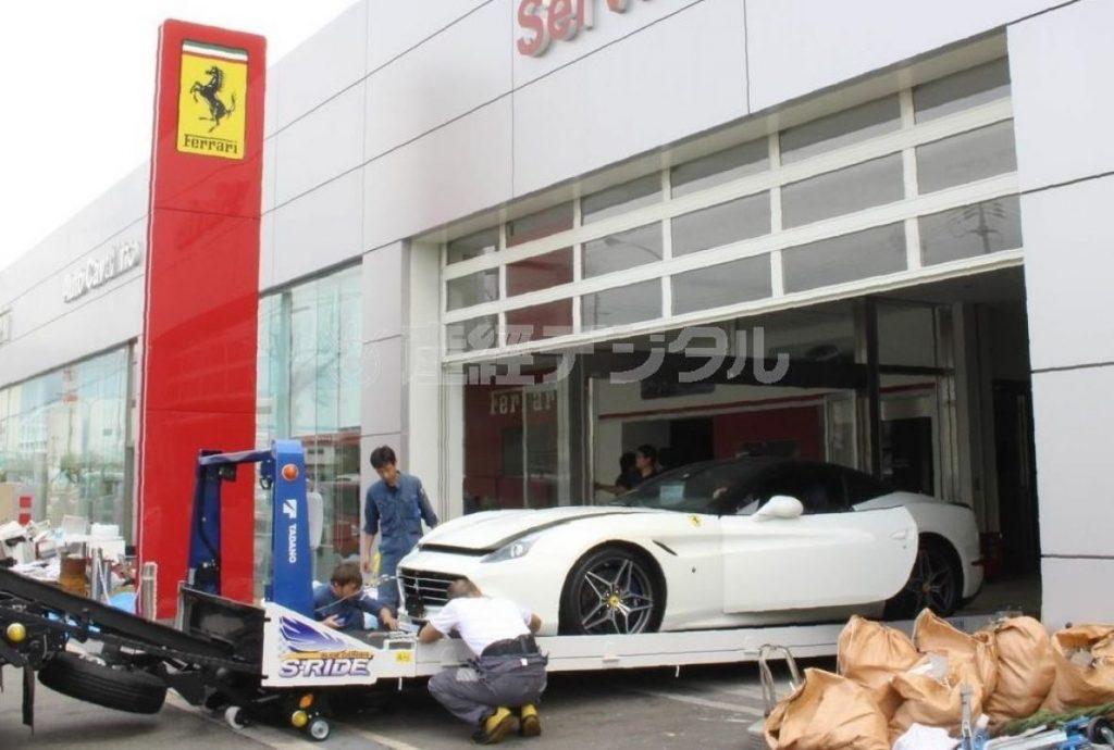 4ac2a9f499f Tufão Jebi destrói 51 Ferraris em concessionária no Japão - Blog Na ...