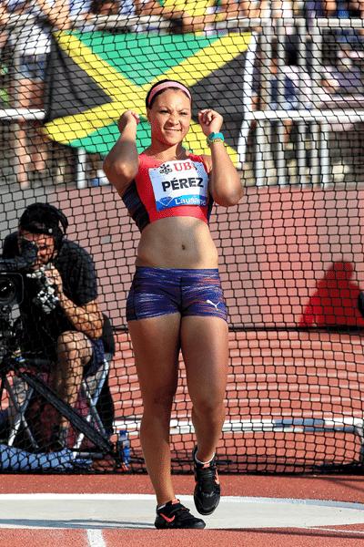 Yaimé Pérez, quarta colocada no lançamento de disco