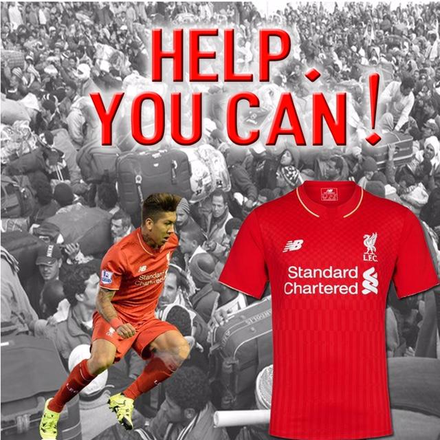 """Cartaz da campanha """"Help You Can"""", com Firmino"""