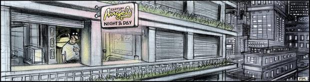 Última tira Chiclete com Banana, publicada hoje na Folha de S. Paulo