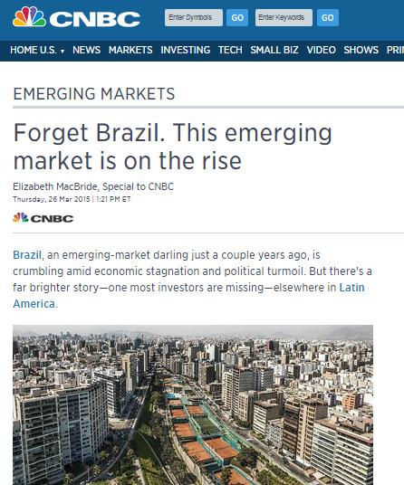Reportagem do canal americano CNBC recomenda que o Brasil seja esquecido