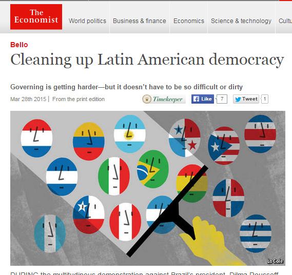 Artigo da 'Economist' sobre democracia no Brasil