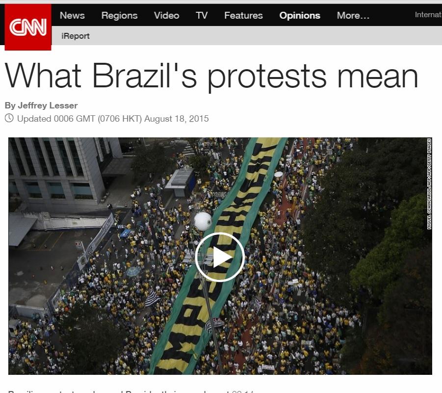 Rede CNN publica análise sobre crise no Brasil