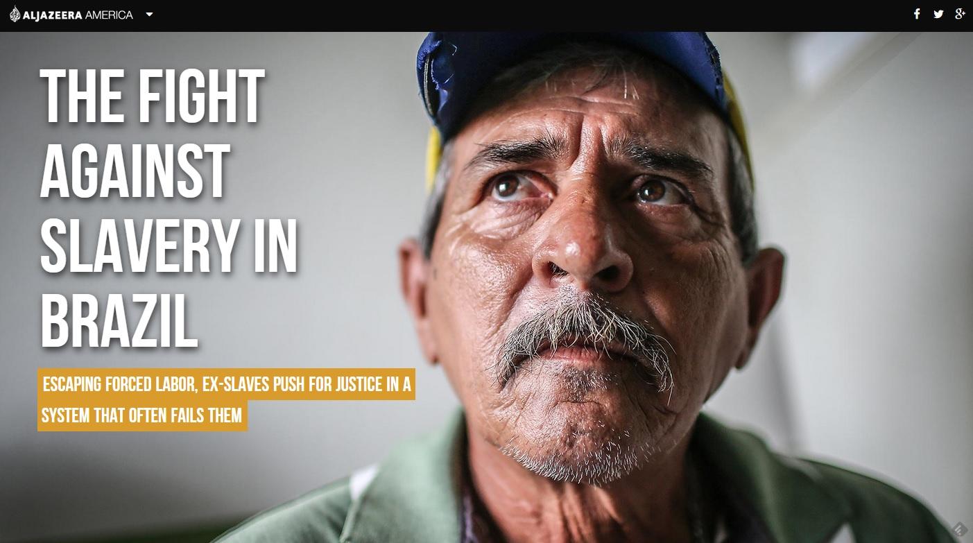 Capa da segunda reportagem da série da Al Jazeera sobre trabalho escravo no Brasil