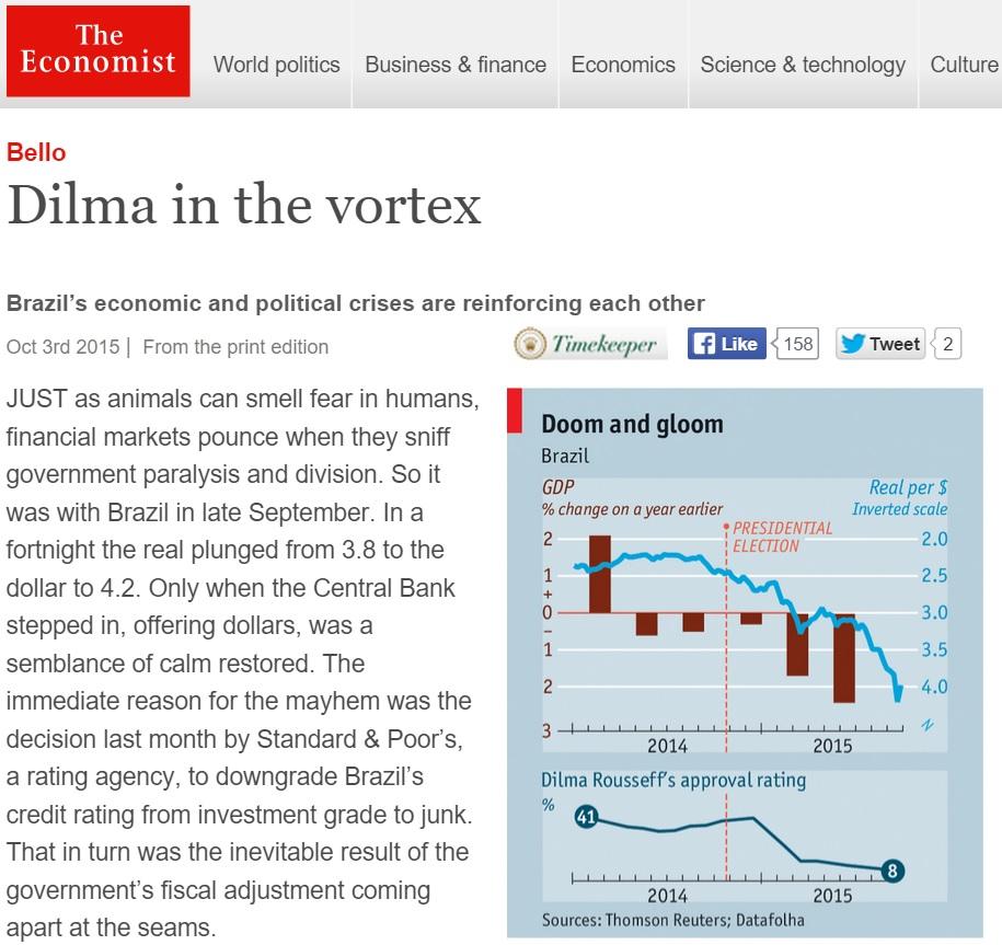 'Economist' diz que comparação de impeachment com golpe é falsa