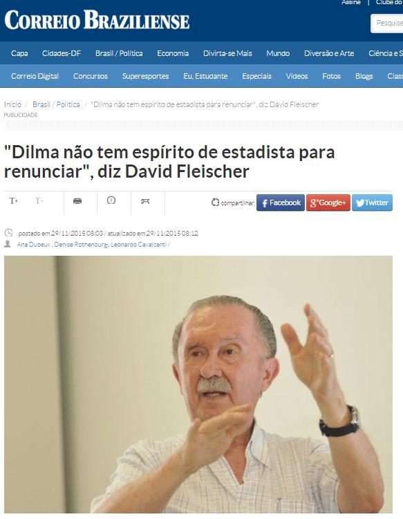 Entrevista publicada pelo 'Correio Braziliense'