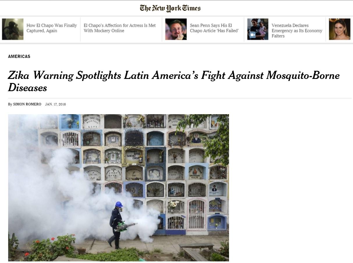 Deu no 'NYT': Surto de zika é vitória dos mosquitos sobre os humanos