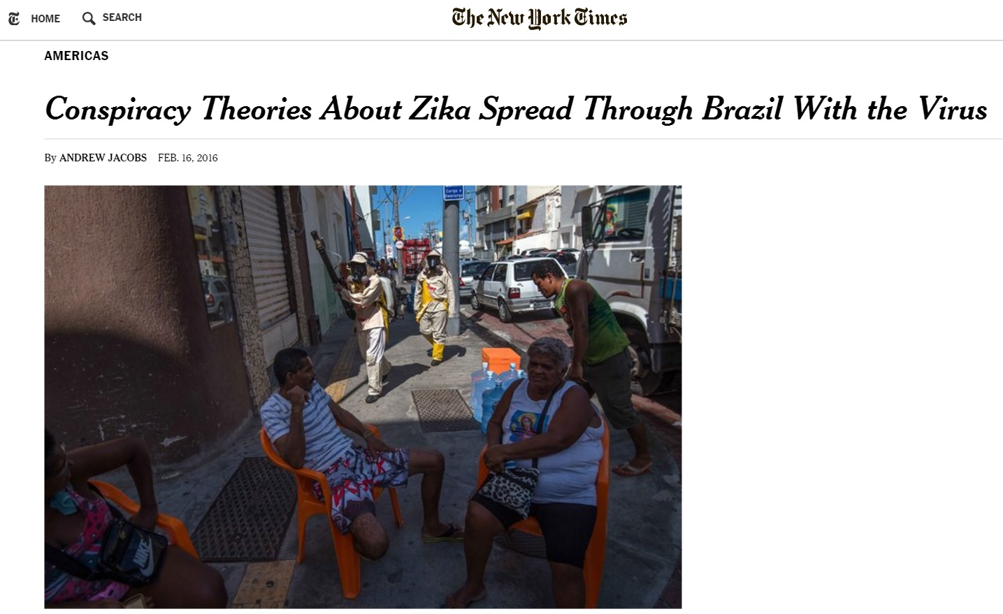 Teorias da conspiração e histeria se propagam com o zika, diz 'New York Times'