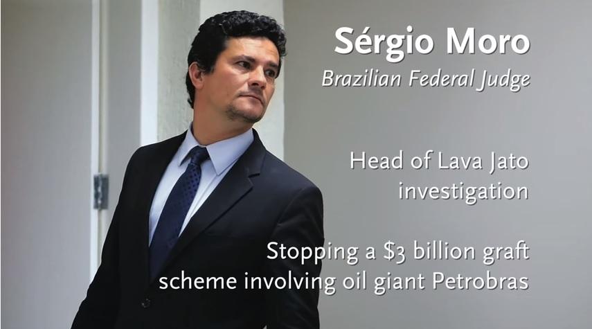 O juiz Sergio Moro, em vídeo da revista americana sobre combate à corrupção na América Latina