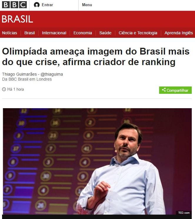 Deu na BBC: Olimpíada ameaça mais a imagem do Brasil do que a crise