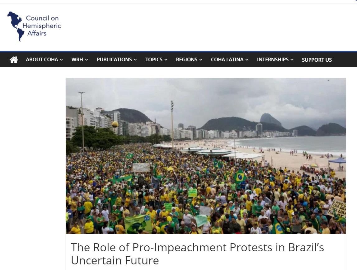 Instabilidade do Brasil vai muito além do impeachment, dizem pesquisadoras