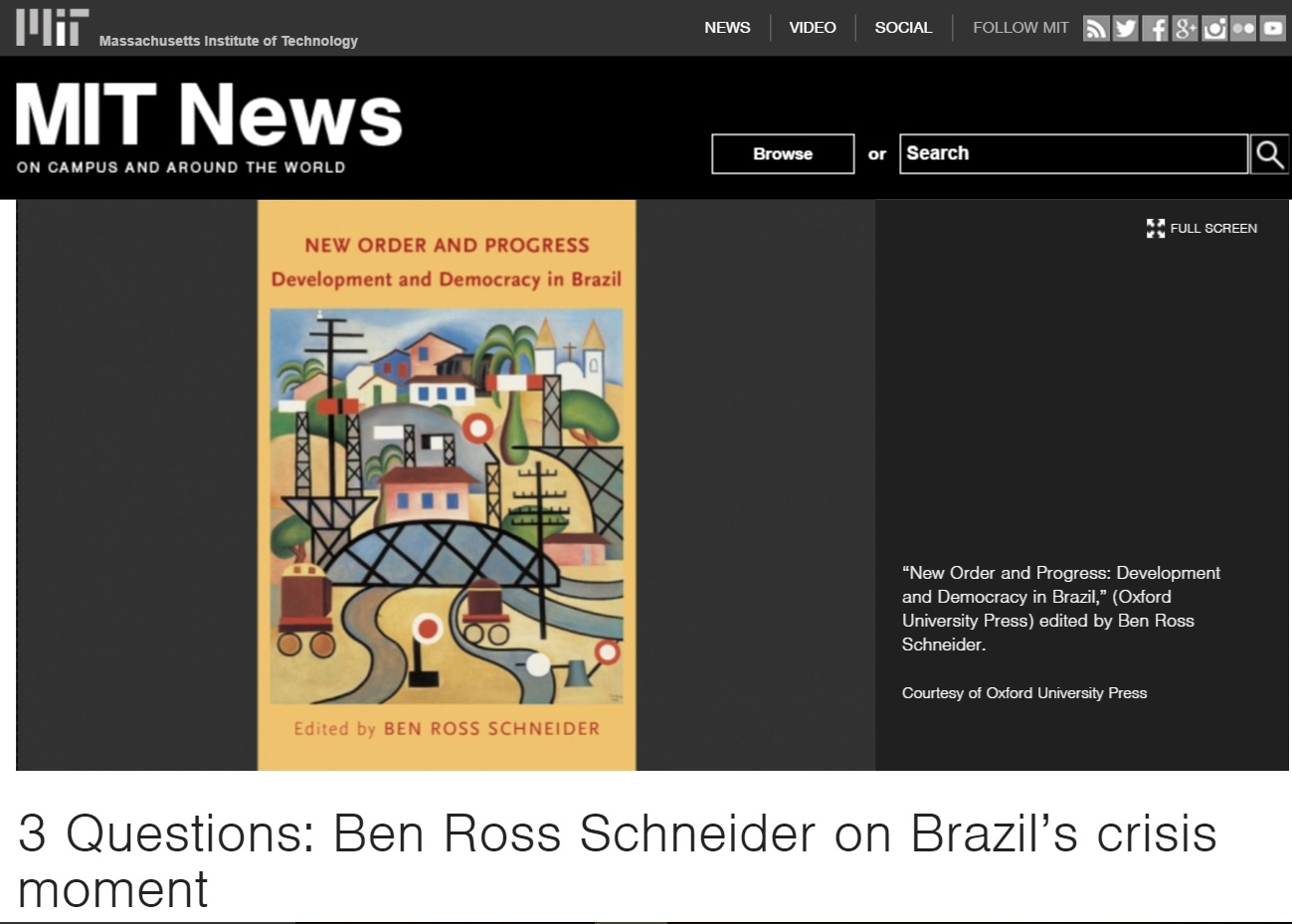 Corrupção no Brasil é maior de que qualquer pessoa suspeitava, diz diretor do MIT