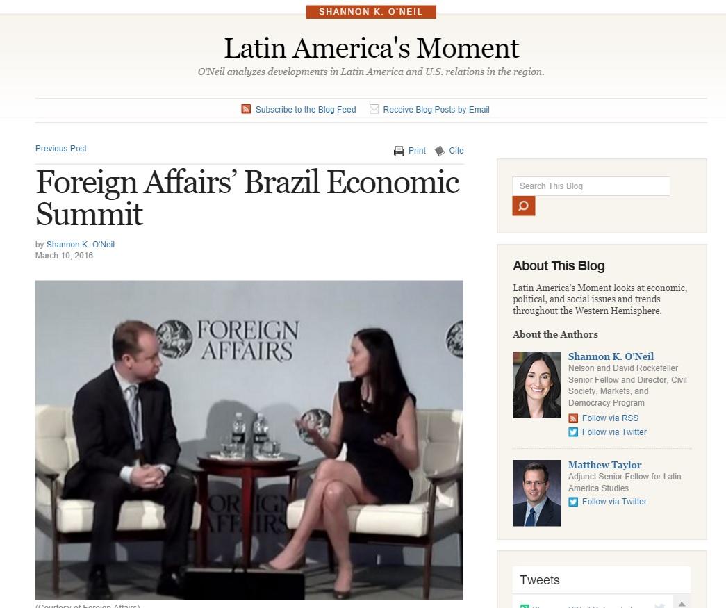 Brian Winter: Brasil por ter um novo presidente até o fim do ano