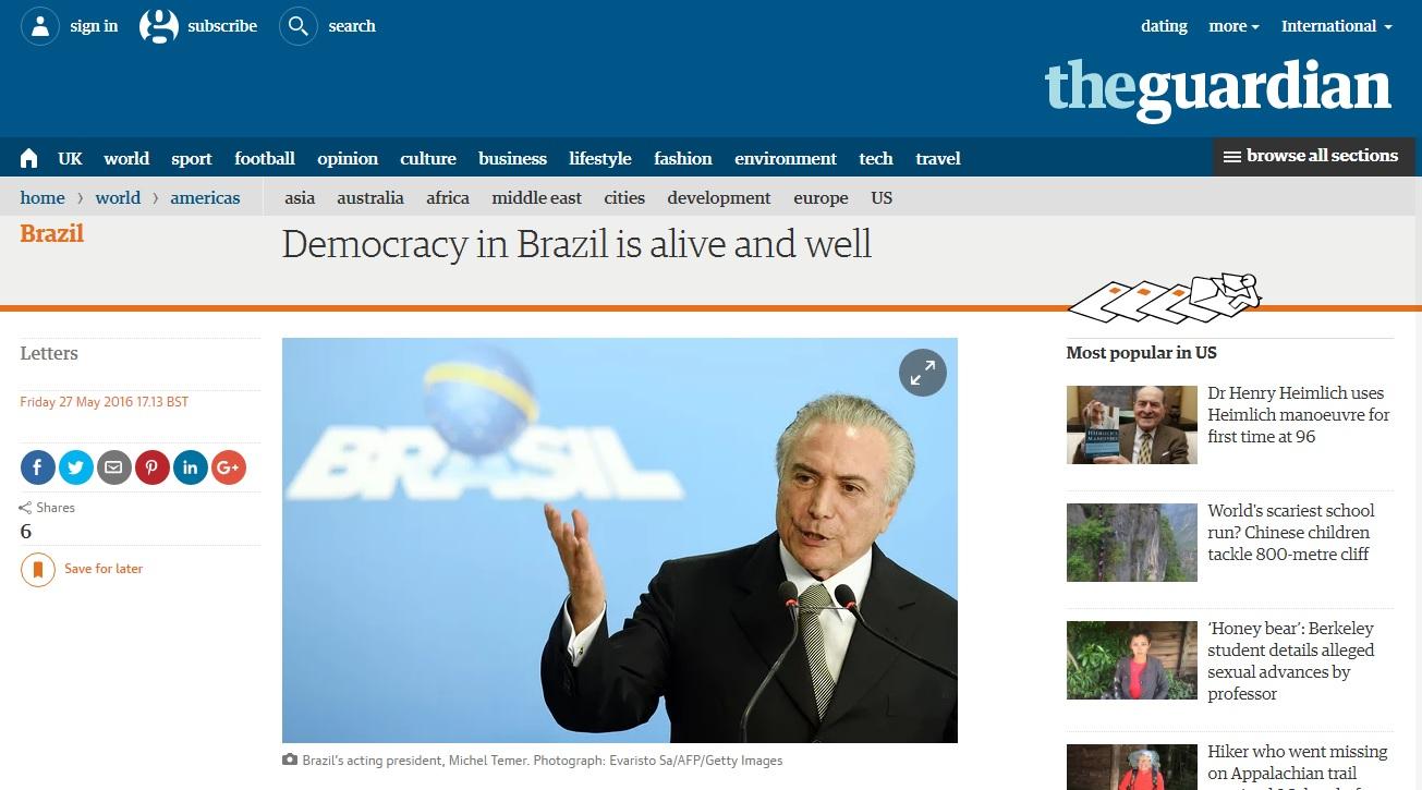 'Democracia brasileira está viva', diz embaixador em resposta a parlamentares britânicos