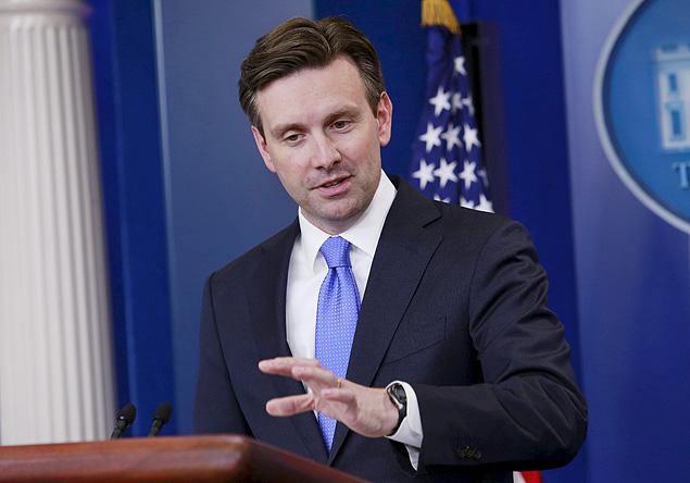 O porta-voz da Casa Branca, Josh Earnest