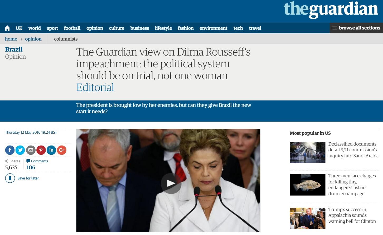Editorial do 'Guardian' sobre o impeachment