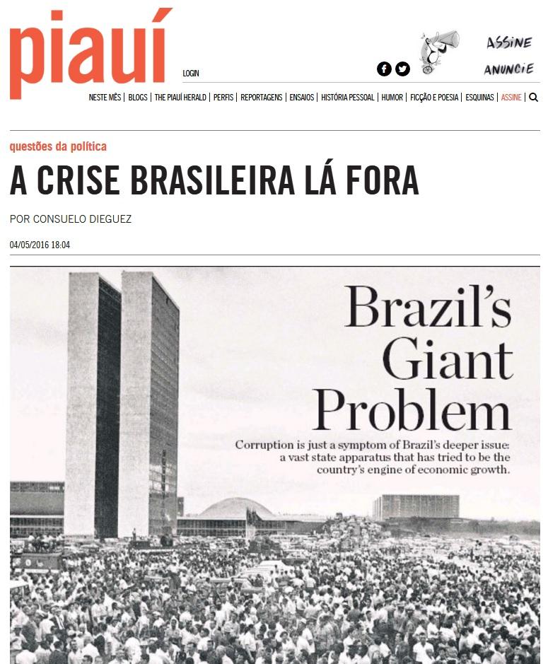 Deu na 'Piauí': Governo acompanha repercussão da crise em 91 publicações internacionais