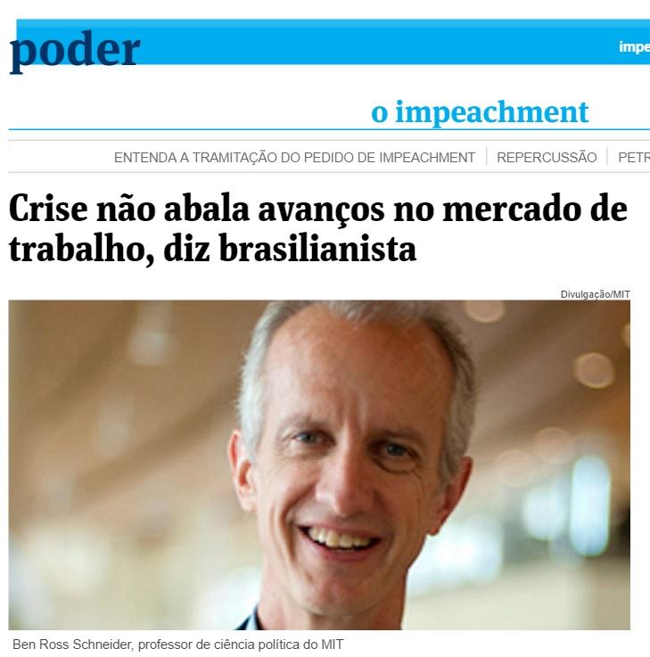 Avanços históricos do Brasil não se perdem por crise, diz livro do MIT