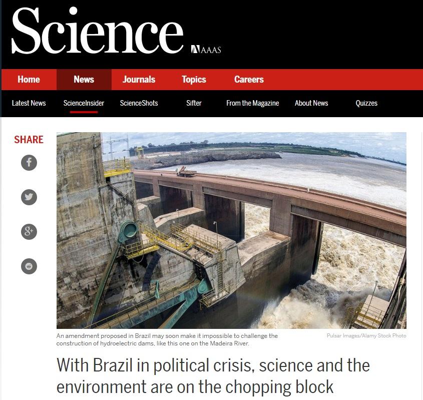 'Science': Mudança política no Brasil cria alerta para cientistas e ambientalistas