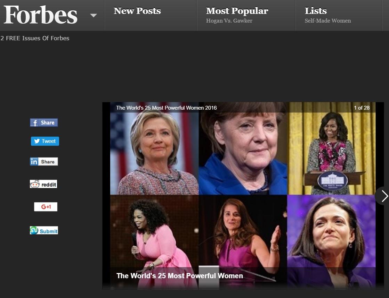 Afastada do poder, Dilma é excluída de ranking das mulheres mais fortes