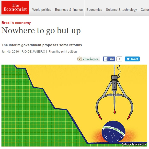 Reportagem da 'Economist' elogia mudança na política econômica do Brasil