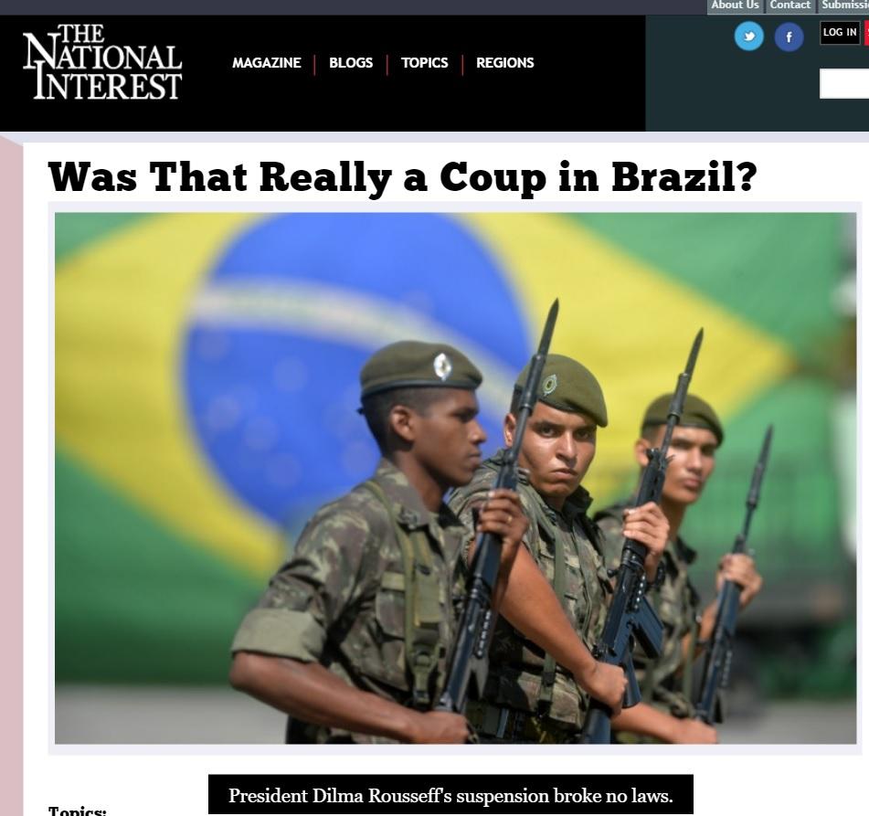 Alvaro Vargas Llosa: Chamar impeachment de golpe é uma ofensa