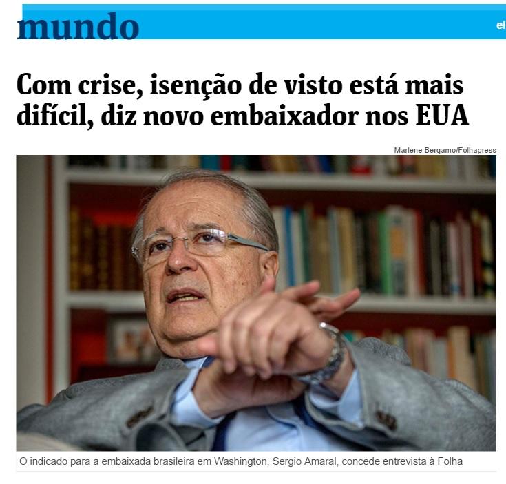 Sérgio Amaral: Imagem do Brasil no exterior depende da imagem interna