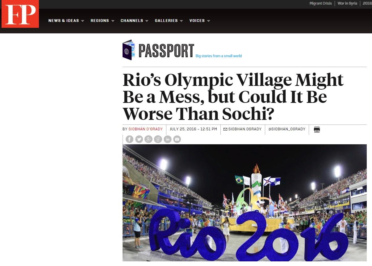 Problemas no Rio levam a comparações com caos em Jogos de Sochi, na Rússia