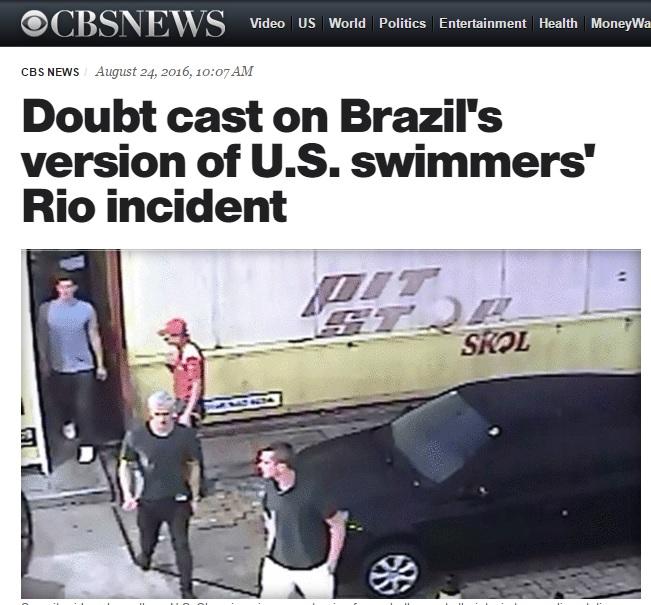 Mídia americana volta a questionar versão brasileira de caso de nadadores
