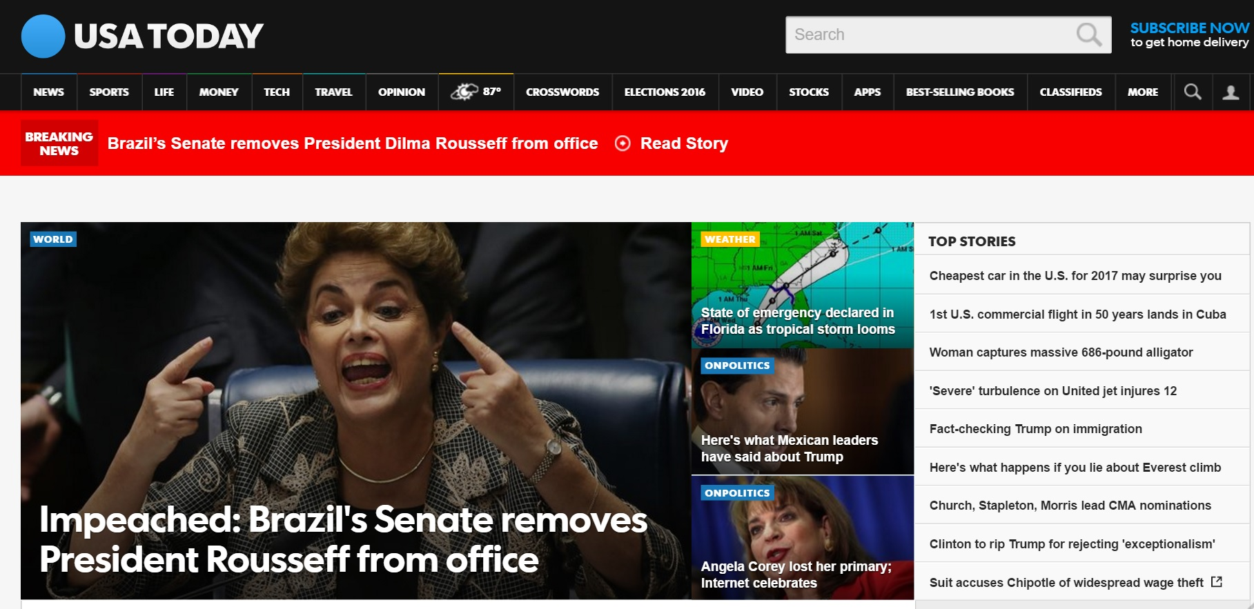 Impeachment de Dilma vira 'breaking news' na imprensa internacional