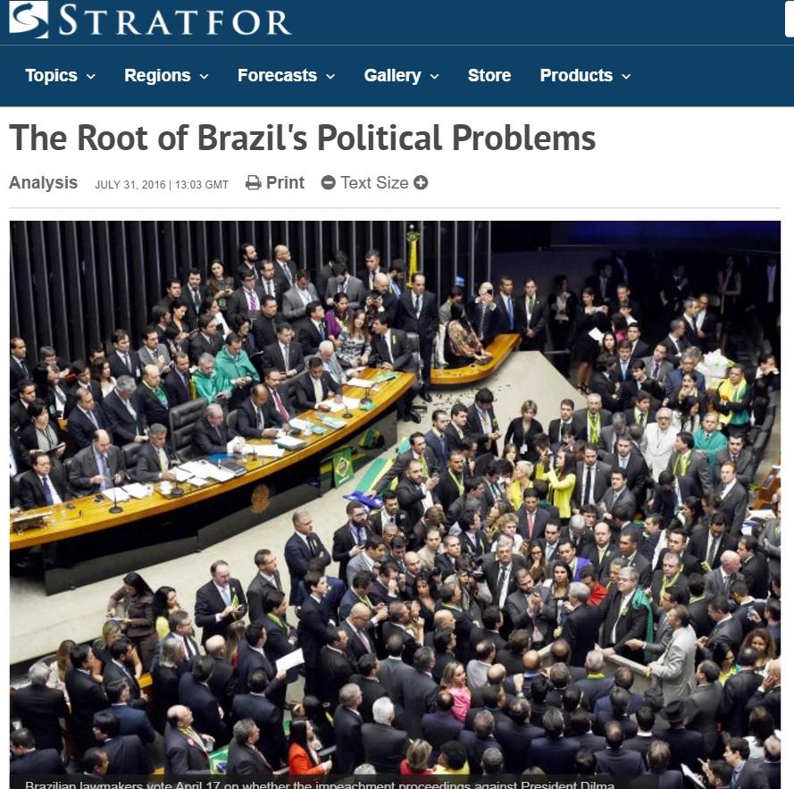 Sistema de coalizões é raiz de problemas do Brasil, diz agência dos EUA